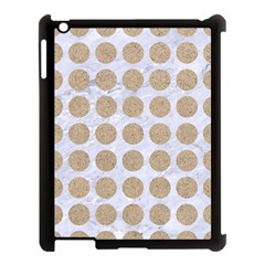 Circles1 White Marble & Sand (r) Apple Ipad 3/4 Case (black) by trendistuff