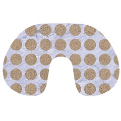 Circles1 White Marble & Sand (r) Travel Neck Pillows by trendistuff