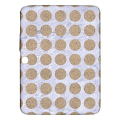 Circles1 White Marble & Sand (r) Samsung Galaxy Tab 3 (10 1 ) P5200 Hardshell Case  by trendistuff