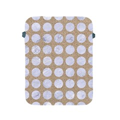 Circles1 White Marble & Sand Apple Ipad 2/3/4 Protective Soft Cases by trendistuff