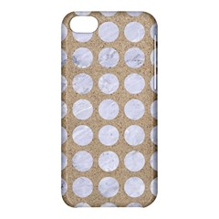 Circles1 White Marble & Sand Apple Iphone 5c Hardshell Case by trendistuff