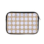 CIRCLES1 WHITE MARBLE & SAND Apple MacBook Pro 15  Zipper Case Front
