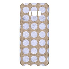 Circles1 White Marble & Sand Samsung Galaxy S8 Plus Hardshell Case