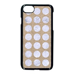 Circles1 White Marble & Sand Apple Iphone 8 Seamless Case (black) by trendistuff
