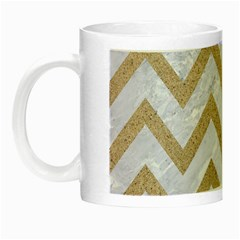 Chevron9 White Marble & Sand (r) Night Luminous Mugs by trendistuff