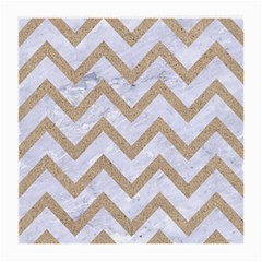 Chevron9 White Marble & Sand (r) Medium Glasses Cloth (2 Side) by trendistuff
