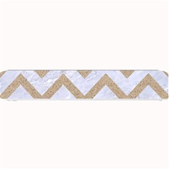 Chevron9 White Marble & Sand (r) Small Bar Mats by trendistuff