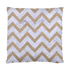 Chevron9 White Marble & Sand (r) Standard Cushion Case (one Side)
