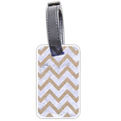 Chevron9 White Marble & Sand (r) Luggage Tags (one Side)  by trendistuff