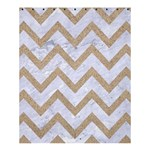CHEVRON9 WHITE MARBLE & SAND (R) Shower Curtain 60  x 72  (Medium)  54.25 x65.71 Curtain