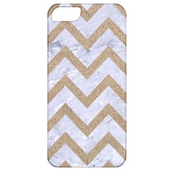 Chevron9 White Marble & Sand (r) Apple Iphone 5 Classic Hardshell Case by trendistuff