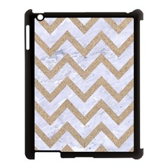 Chevron9 White Marble & Sand (r) Apple Ipad 3/4 Case (black) by trendistuff