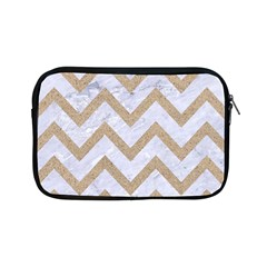 Chevron9 White Marble & Sand (r) Apple Ipad Mini Zipper Cases by trendistuff