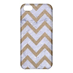 Chevron9 White Marble & Sand (r) Apple Iphone 5c Hardshell Case by trendistuff