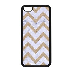Chevron9 White Marble & Sand (r) Apple Iphone 5c Seamless Case (black) by trendistuff