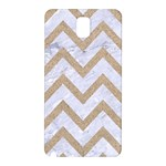 CHEVRON9 WHITE MARBLE & SAND (R) Samsung Galaxy Note 3 N9005 Hardshell Back Case Front