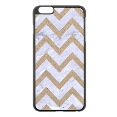 Chevron9 White Marble & Sand (r) Apple Iphone 6 Plus/6s Plus Black Enamel Case by trendistuff