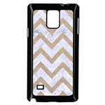 CHEVRON9 WHITE MARBLE & SAND (R) Samsung Galaxy Note 4 Case (Black) Front