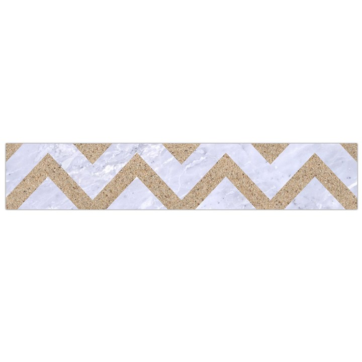 CHEVRON9 WHITE MARBLE & SAND (R) Large Flano Scarf