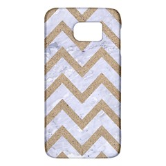Chevron9 White Marble & Sand (r) Galaxy S6 by trendistuff