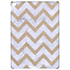Chevron9 White Marble & Sand (r) Apple Ipad Pro 12 9   Hardshell Case by trendistuff