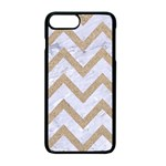 CHEVRON9 WHITE MARBLE & SAND (R) Apple iPhone 7 Plus Seamless Case (Black) Front