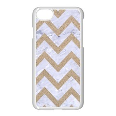 Chevron9 White Marble & Sand (r) Apple Iphone 7 Seamless Case (white) by trendistuff