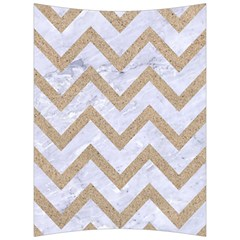 Chevron9 White Marble & Sand (r) Back Support Cushion by trendistuff