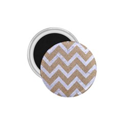 Chevron9 White Marble & Sand 1 75  Magnets by trendistuff