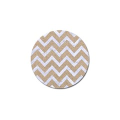 Chevron9 White Marble & Sand Golf Ball Marker (10 Pack) by trendistuff