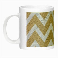 Chevron9 White Marble & Sand Night Luminous Mugs by trendistuff