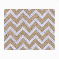 Chevron9 White Marble & Sand Small Glasses Cloth (2 Side) by trendistuff