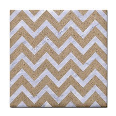 Chevron9 White Marble & Sand Face Towel by trendistuff