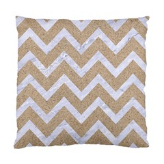 Chevron9 White Marble & Sand Standard Cushion Case (one Side) by trendistuff