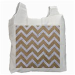 CHEVRON9 WHITE MARBLE & SAND Recycle Bag (Two Side)  Front