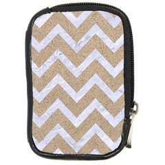 Chevron9 White Marble & Sand Compact Camera Cases by trendistuff