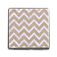 Chevron9 White Marble & Sand Memory Card Reader (square) by trendistuff