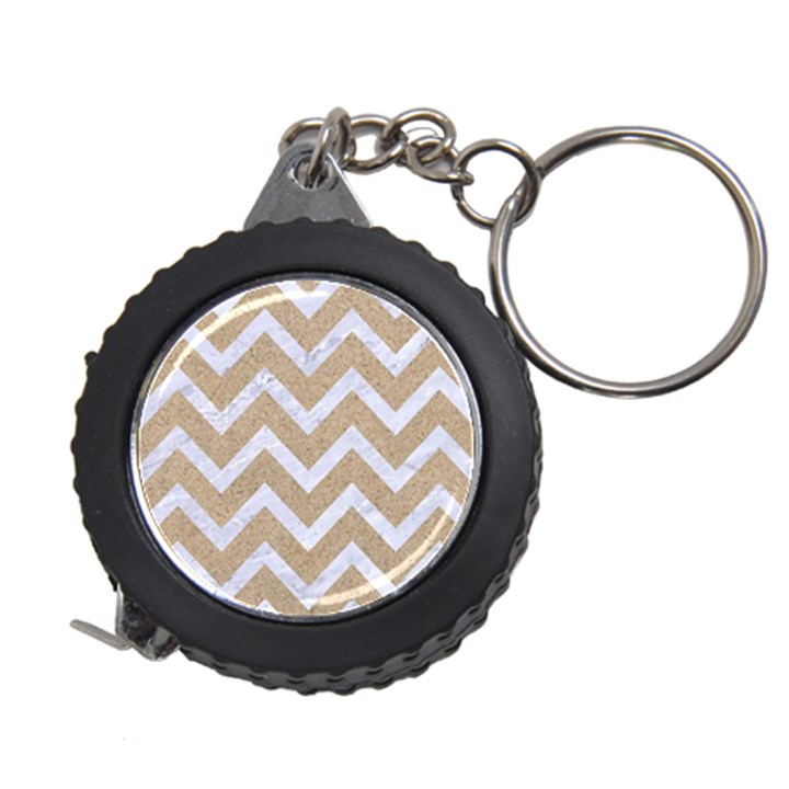 CHEVRON9 WHITE MARBLE & SAND Measuring Tape