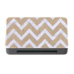 CHEVRON9 WHITE MARBLE & SAND Memory Card Reader with CF Front