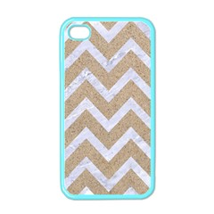 Chevron9 White Marble & Sand Apple Iphone 4 Case (color) by trendistuff