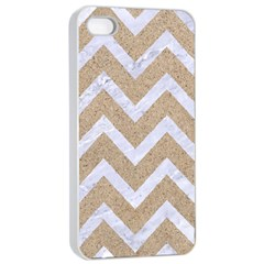 Chevron9 White Marble & Sand Apple Iphone 4/4s Seamless Case (white) by trendistuff