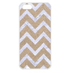Chevron9 White Marble & Sand Apple Iphone 5 Seamless Case (white) by trendistuff