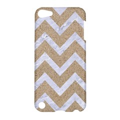 Chevron9 White Marble & Sand Apple Ipod Touch 5 Hardshell Case by trendistuff