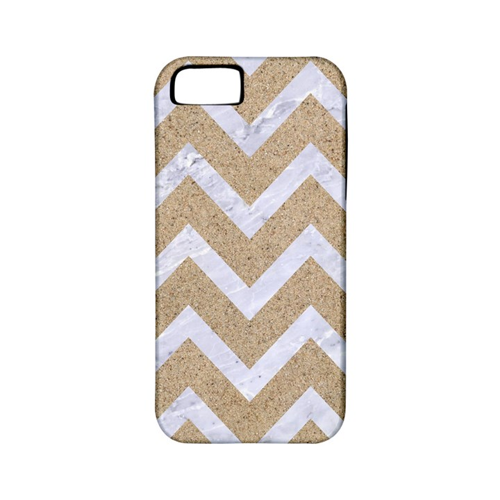 CHEVRON9 WHITE MARBLE & SAND Apple iPhone 5 Classic Hardshell Case (PC+Silicone)