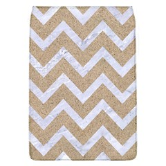 Chevron9 White Marble & Sand Flap Covers (l)  by trendistuff