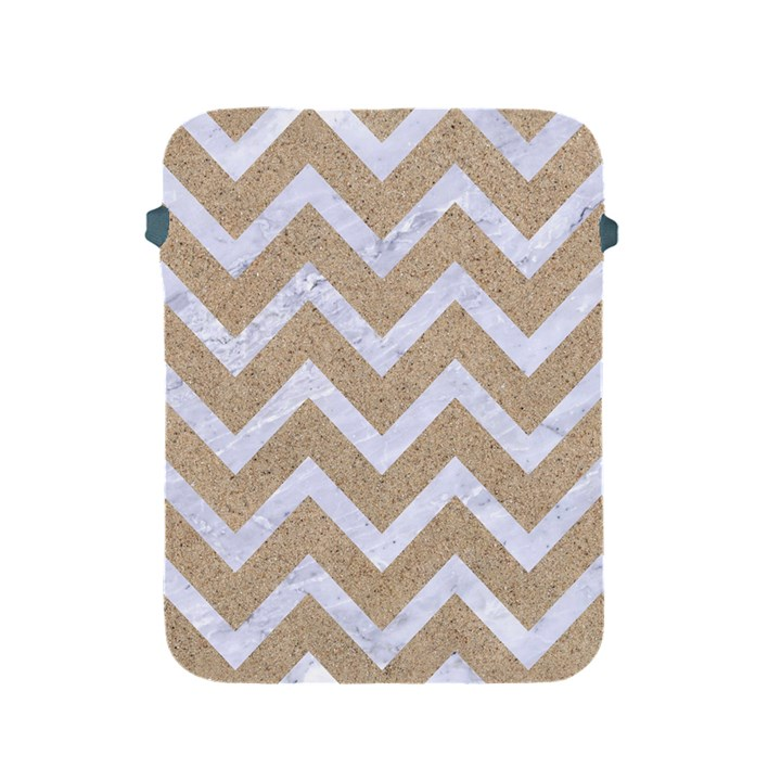 CHEVRON9 WHITE MARBLE & SAND Apple iPad 2/3/4 Protective Soft Cases