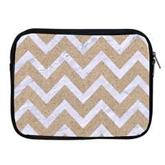 Chevron9 White Marble & Sand Apple Ipad 2/3/4 Zipper Cases by trendistuff