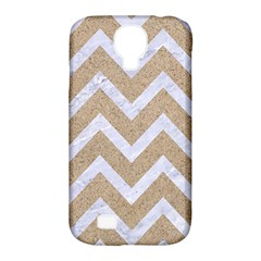 Chevron9 White Marble & Sand Samsung Galaxy S4 Classic Hardshell Case (pc+silicone) by trendistuff