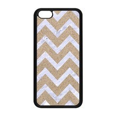 Chevron9 White Marble & Sand Apple Iphone 5c Seamless Case (black) by trendistuff