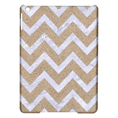 Chevron9 White Marble & Sand Ipad Air Hardshell Cases by trendistuff